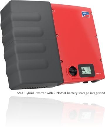 SMA Hybrid Inverter with 2.2kW of battery storage integrated
