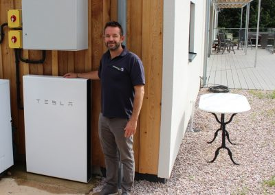 Mole Energy Director Dave, with a Powerwall