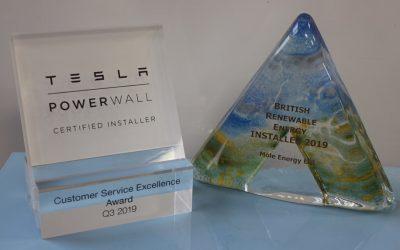 We've been recognised for Tesla Customer Service Excellence
