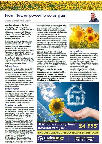 Mole Energy Aug 2020 Newsletter