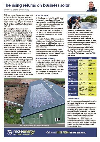 Mole Energy Jan 2020 Newsletter