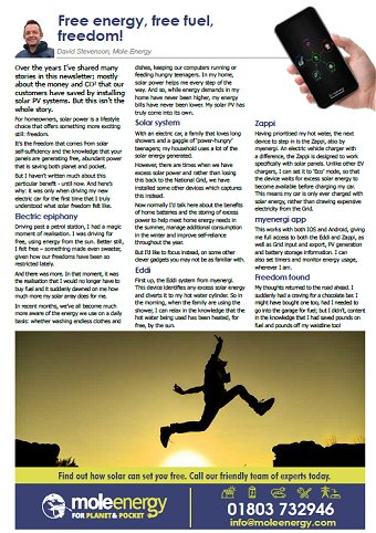 Mole Energy July 2020 Newsletter