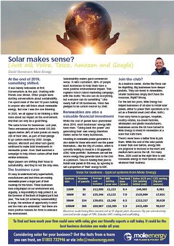 Mole Energy Mar 2020 Newsletter