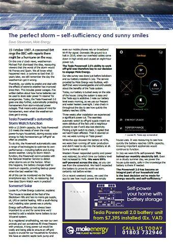 Mole Energy Oct 2020 Newsletter