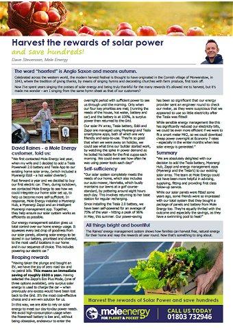 Mole Energy Sep 2020 Newsletter