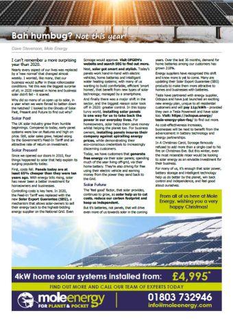 Mole Energy Dec 2020 Newsletter