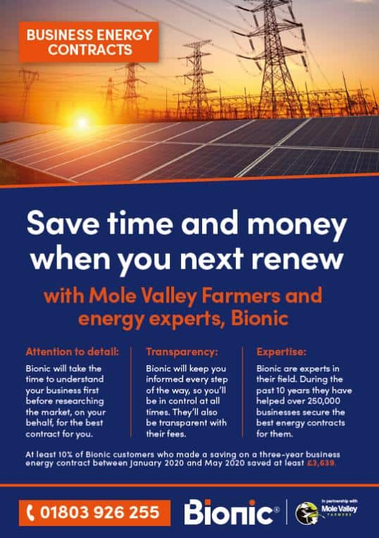 Business Energy Switching Contracts - Bionic - RH255
