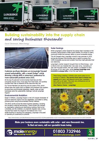 Mole Energy July 2021 Newsletter